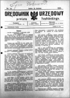 Orędownik Urzędowy powiatu Szubińskiego 1924.04.26 R.5 nr 33
