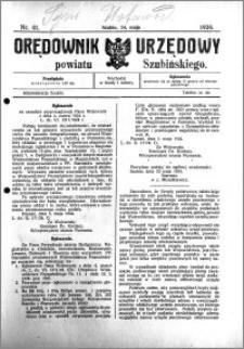 Orędownik Urzędowy powiatu Szubińskiego 1924.05.24 R.5 nr 41