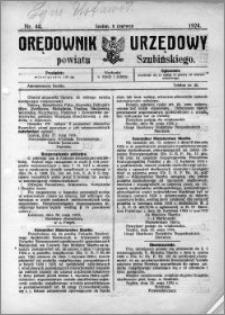 Orędownik Urzędowy powiatu Szubińskiego 1924.06.04 R.5 nr 44