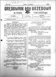 Orędownik Urzędowy powiatu Szubińskiego 1924.06.11 R.5 nr 46