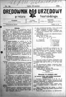 Orędownik Urzędowy powiatu Szubińskiego 1924.06.28 R.5 nr 50