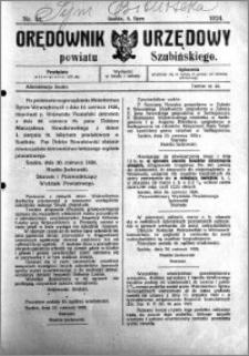 Orędownik Urzędowy powiatu Szubińskiego 1924.07.02 R.5 nr 51