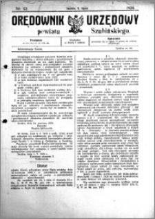 Orędownik Urzędowy powiatu Szubińskiego 1924.07.05 R.5 nr 52