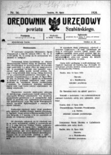 Orędownik Urzędowy powiatu Szubińskiego 1924.07.19 R.5 nr 56
