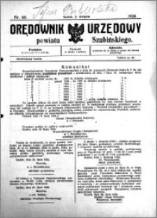 Orędownik Urzędowy powiatu Szubińskiego 1924.08.02 R.5 nr 60