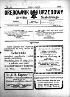 Orędownik Urzędowy powiatu Szubińskiego 1924.08.09 R.5 nr 62