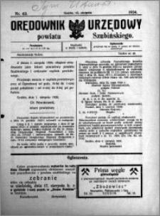 Orędownik Urzędowy powiatu Szubińskiego 1924.08.13 R.5 nr 63