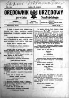 Orędownik Urzędowy powiatu Szubińskiego 1924.08.20 R.5 nr 64