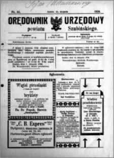 Orędownik Urzędowy powiatu Szubińskiego 1924.08.23 R.5 nr 65