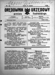 Orędownik Urzędowy powiatu Szubińskiego 1924.08.27 R.5 nr 66