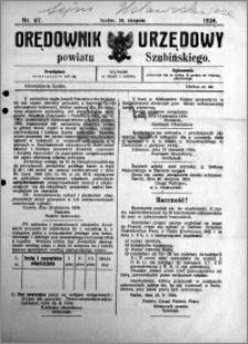 Orędownik Urzędowy powiatu Szubińskiego 1924.08.30 R.5 nr 67