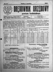 Orędownik Urzędowy powiatu Szubińskiego 1924.12.06 R.5 nr 91
