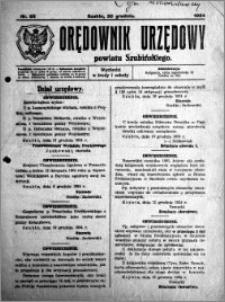 Orędownik Urzędowy powiatu Szubińskiego 1924.12.20 R.5 nr 93