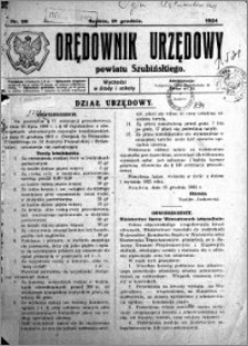 Orędownik Urzędowy powiatu Szubińskiego 1924.12.31 R.5 nr 95