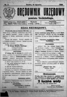 Orędownik Urzędowy powiatu Szubińskiego 1925.01.10 R.6 nr 2