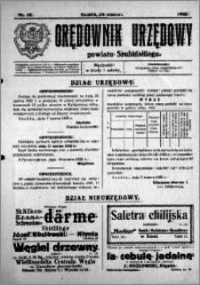 Orędownik Urzędowy powiatu Szubińskiego 1925.03.14 R.6 nr 13