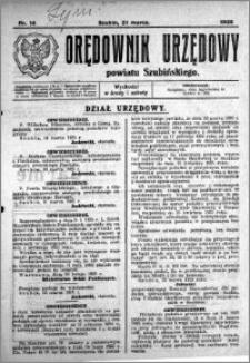 Orędownik Urzędowy powiatu Szubińskiego 1925.03.21 R.6 nr 14
