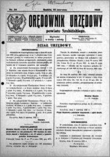 Orędownik Urzędowy powiatu Szubińskiego 1925.06.13 R.6 nr 34