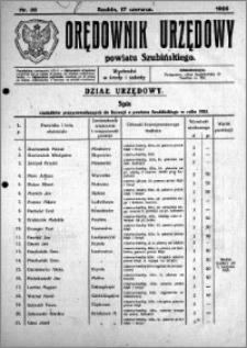 Orędownik Urzędowy powiatu Szubińskiego 1925.06.17 R.6 nr 35