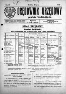 Orędownik Urzędowy powiatu Szubińskiego 1925.07.08 R.6 nr 39