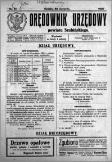 Orędownik Urzędowy powiatu Szubińskiego 1925.08.22 R.6 nr 51