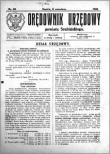 Orędownik Urzędowy powiatu Szubińskiego 1925.09.02 R.6 nr 53