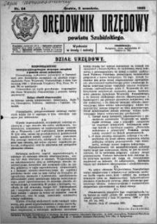 Orędownik Urzędowy powiatu Szubińskiego 1925.09.05 R.6 nr 54