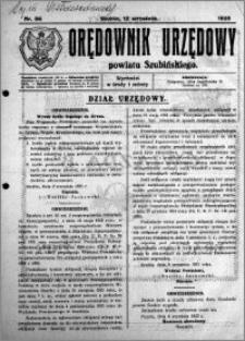 Orędownik Urzędowy powiatu Szubińskiego 1925.09.12 R.6 nr 56