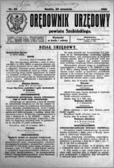 Orędownik Urzędowy powiatu Szubińskiego 1925.09.23 R.6 nr 59