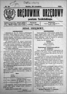 Orędownik Urzędowy powiatu Szubińskiego 1925.09.26 R.6 nr 60