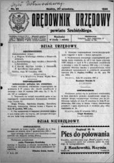 Orędownik Urzędowy powiatu Szubińskiego 1925.09.30 R.6 nr 61