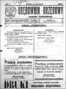 Orędownik Urzędowy powiatu Szubińskiego 1926.01.02 R.7 nr 1