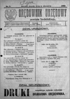Orędownik Urzędowy powiatu Szubińskiego 1926.01.06 R.7 nr 2