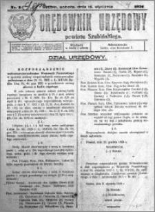 Orędownik Urzędowy powiatu Szubińskiego 1926.01.16 R.7 nr 5