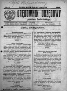 Orędownik Urzędowy powiatu Szubińskiego 1926.01.27 R.7 nr 8