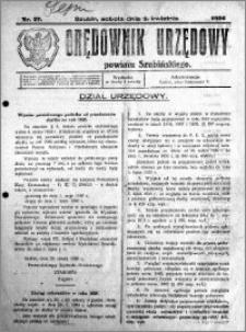 Orędownik Urzędowy powiatu Szubińskiego 1926.04.03 R.7 nr 27