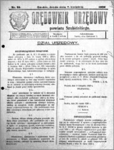 Orędownik Urzędowy powiatu Szubińskiego 1926.04.07 R.7 nr 28