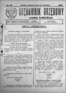 Orędownik Urzędowy powiatu Szubińskiego 1926.04.10 R.7 nr 29