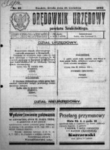 Orędownik Urzędowy powiatu Szubińskiego 1926.04.21 R.7 nr 32