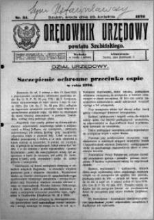 Orędownik Urzędowy powiatu Szubińskiego 1926.04.28 R.7 nr 34