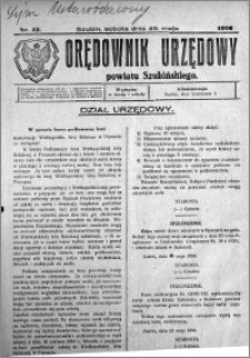 Orędownik Urzędowy powiatu Szubińskiego 1926.05.29 R.7 nr 43