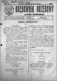 Orędownik Urzędowy powiatu Szubińskiego 1926.07.31 R.7 nr 61