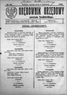 Orędownik Urzędowy powiatu Szubińskiego 1926.08.11 R.7 nr 64