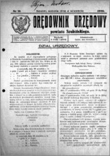 Orędownik Urzędowy powiatu Szubińskiego 1926.09.04 R.7 nr 71