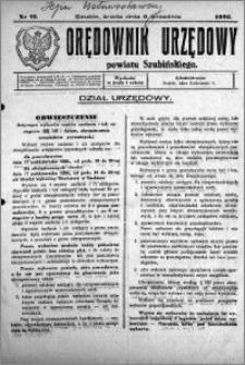 Orędownik Urzędowy powiatu Szubińskiego 1926.09.08 R.7 nr 72