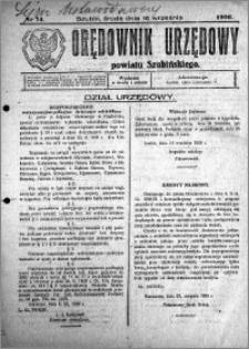 Orędownik Urzędowy powiatu Szubińskiego 1926.09.15 R.7 nr 74