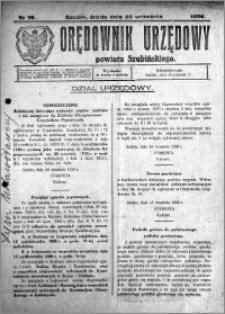 Orędownik Urzędowy powiatu Szubińskiego 1926.09.22 R.7 nr 76