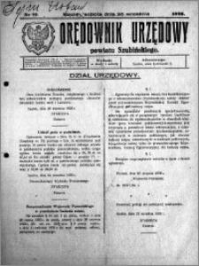 Orędownik Urzędowy powiatu Szubińskiego 1926.09.25 R.7 nr 77
