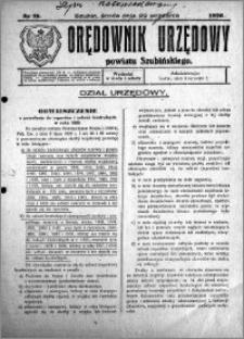 Orędownik Urzędowy powiatu Szubińskiego 1926.09.29 R.7 nr 78
