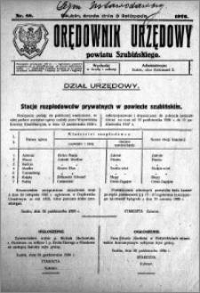 Orędownik Urzędowy powiatu Szubińskiego 1926.11.03 R.7 nr 88